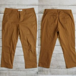 Old Navy Brown Cognac Camel Skinny Pants 4 Short